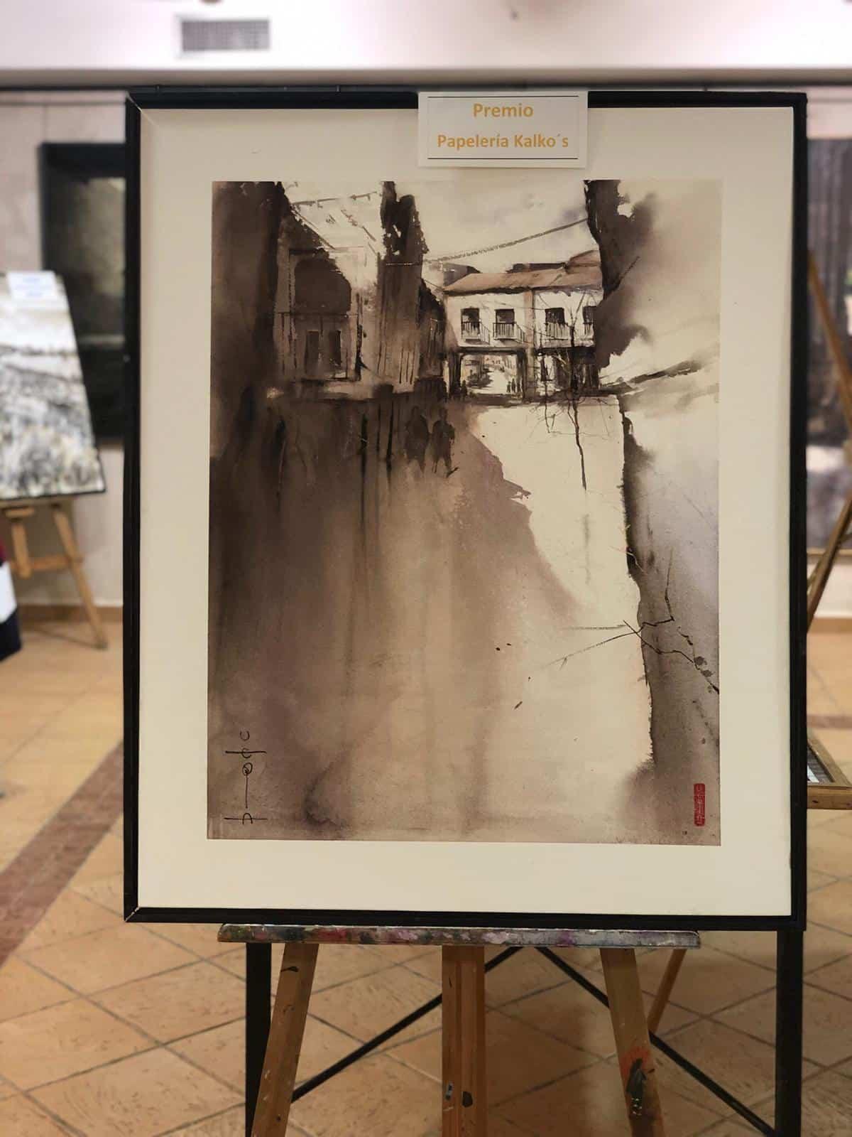 """premiados certamen pintura rapida 2019 herencia 5 - Celebrado el XIII Certamen Nacional de Pintura Rápida """"Villa de Herencia"""""""