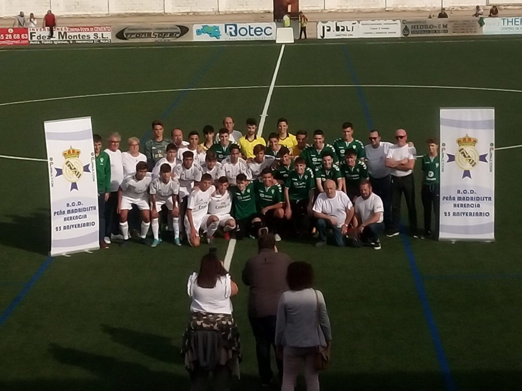 El partido entre el Cadete A del Real Madrid y el Herencia Sub-17 contó con la presencia de Julen Guerrero 12