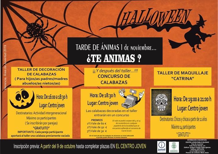 Cartel tarde de %C3%A1nimas - Juventud organiza concursos y talleres con motivo de la fiesta de ánimas