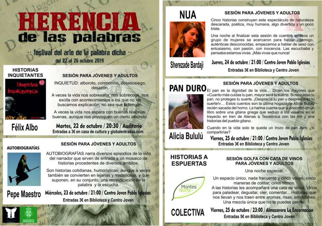 Cuenta cuentos Herencia de las palabras 1068x749 - Espectáculos de narración oral para jóvenes y adultos en Herencia de las Palabras