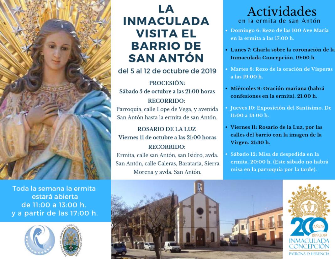 Inmaculada San Antón 1 1068x825 - La imagen de la Inmaculada visita el barrio de San Antón