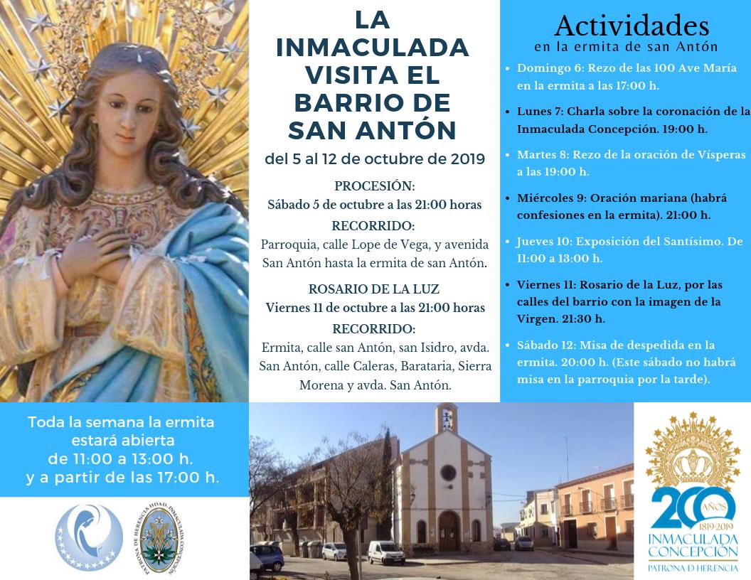 Inmaculada San Antón 1 - La imagen de la Inmaculada visita el barrio de San Antón