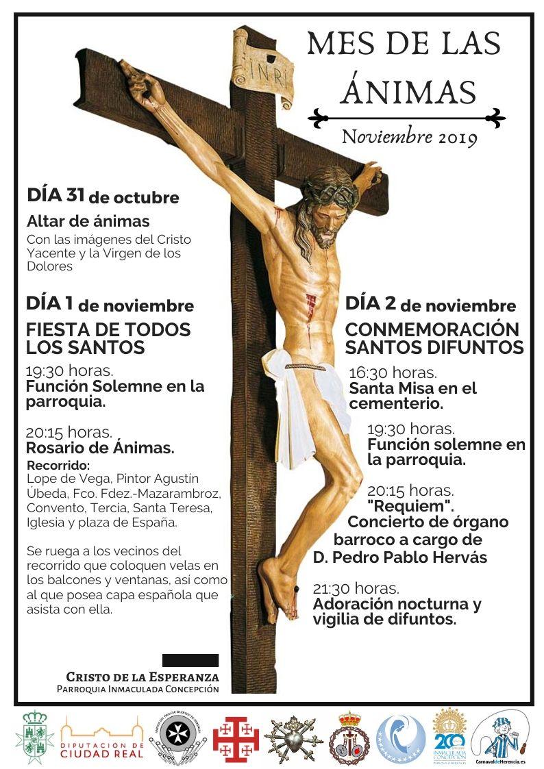 Mes de las %C3%A1nimas en Herencia - El Cristo de la Esperanza procesiona por primera vez en Herencia durante el Rosario de Ánimas