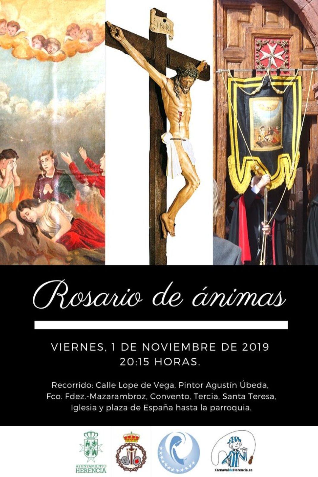 Rosario de ánimas 1068x1601 - El Cristo de la Esperanza procesiona por primera vez en Herencia durante el Rosario de Ánimas