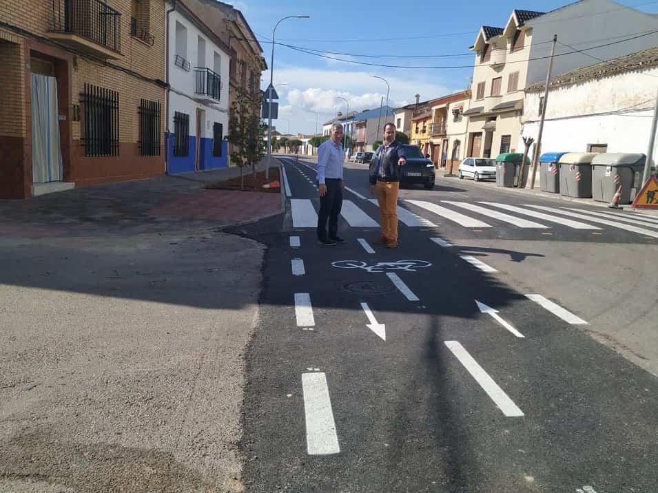 Herencia ya cuenta con una primera parte de su carril bici 5