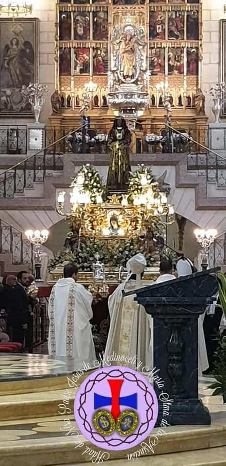 hermandad de medinaceli de Herencia en Madrid - Miembros de la hermandad de Medinaceli de Herencia presentes en la salida extraordinaria del Medinaceli de Madrid