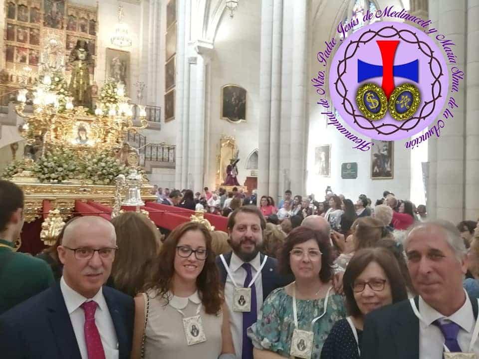 Miembros de la hermandad de Medinaceli de Herencia presentes en la salida extraordinaria del Medinaceli de Madrid 9