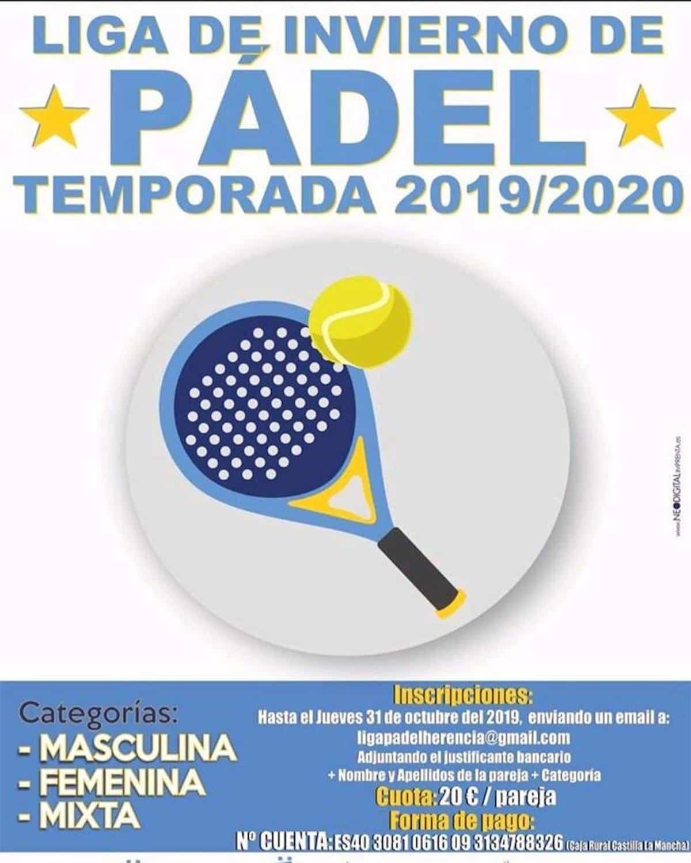 liga invierto padel 2019 2020 - Próxima Liga de invierno de Pádel para 2019-2020