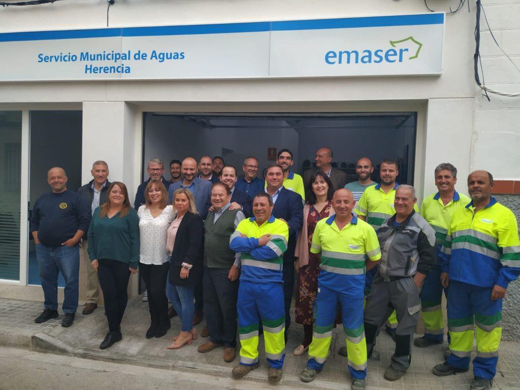 nueva sede emaser herencia 1 1068x801 - Inaugurada la nueva oficina del Servicio de Aguas Emaser en Herencia