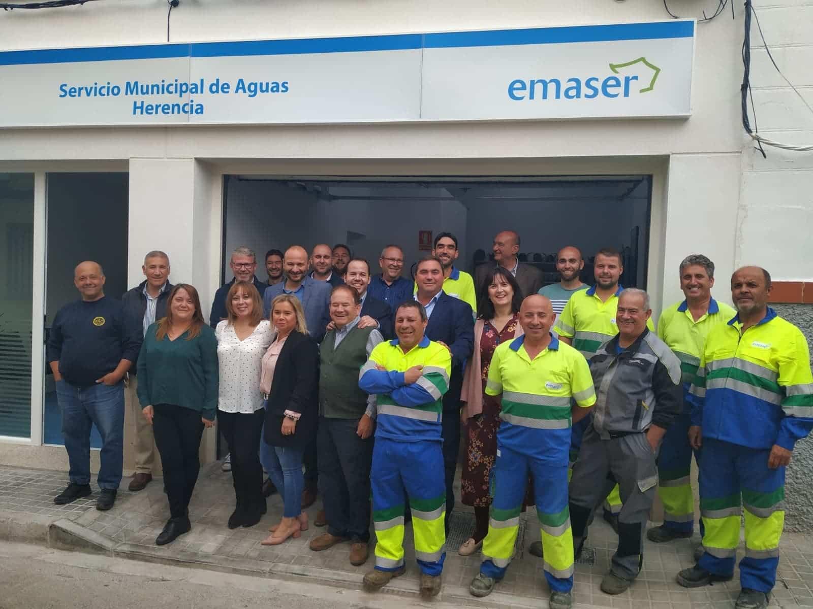 nueva sede emaser herencia 1 - Inaugurada la nueva oficina del Servicio de Aguas Emaser en Herencia