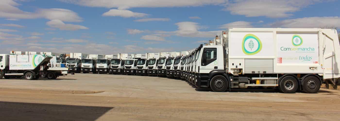 slide camiones - Comsermancha adapta sus ordenanzas al Plan de Gestión de Residuos Urbanos de Castilla-La Mancha
