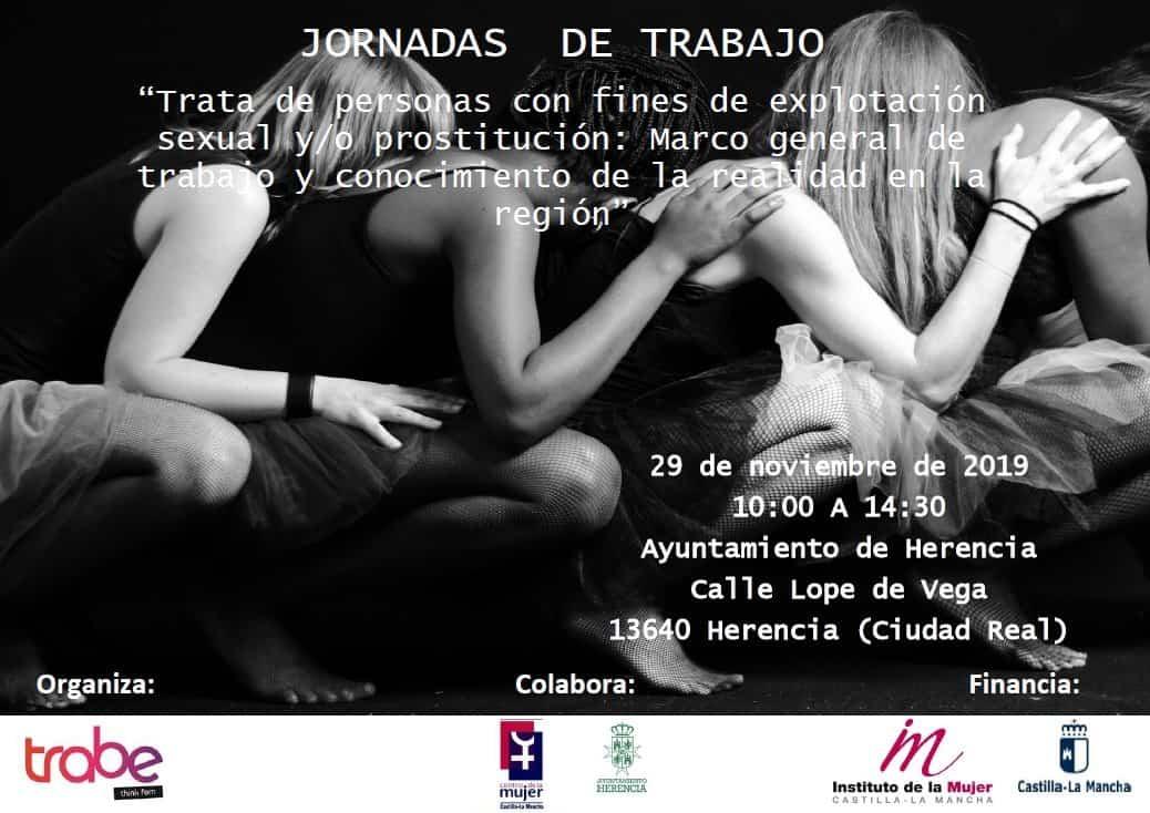 Cartel trata mujeres - Jornadas de trabajo sobre trata de personas