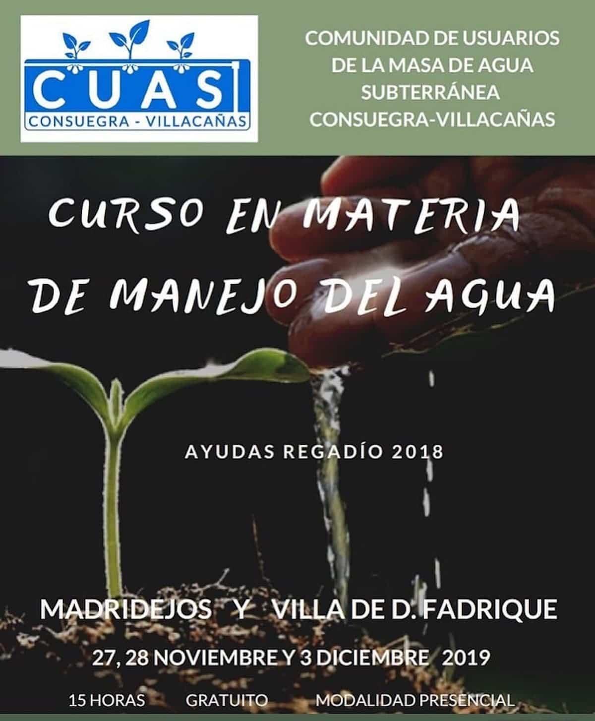 Curso en Materia de Manejo del Agua - CUAS organiza un curso en Materia de Manejo del Agua