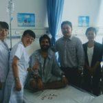 Elías Escribano llega a Laos tras estar ingresado en un hospital chino 54