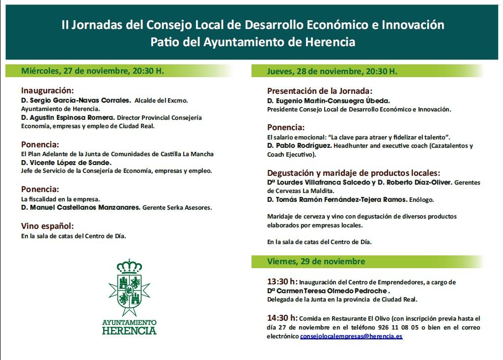II Jornadas del Consejo Local de Desarrollo Económico e Innovación 2 - Segundas jornadas del Consejo Local de Desarrollo Económico e Innovación