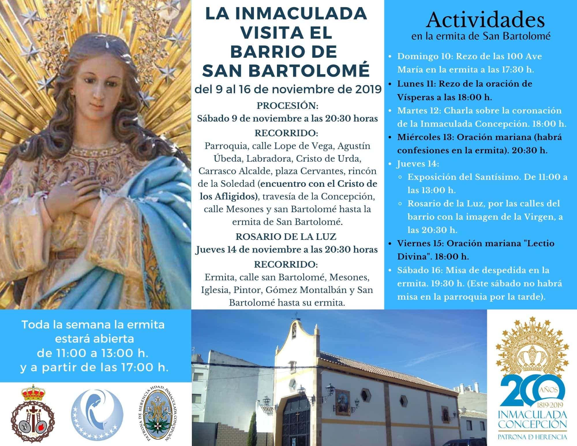 Inmaculada Santo - La Inmaculada visita el barrio de San Bartolomé