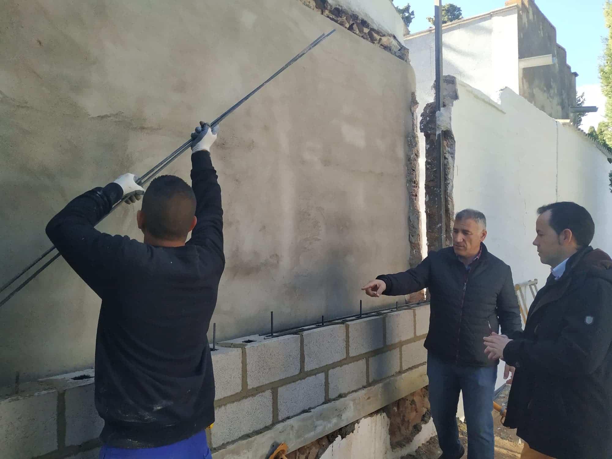 Mejoras pasillos cementerio herencia 1 - Comienza la primera fase de obras de mejora en el Cementerio Municipal