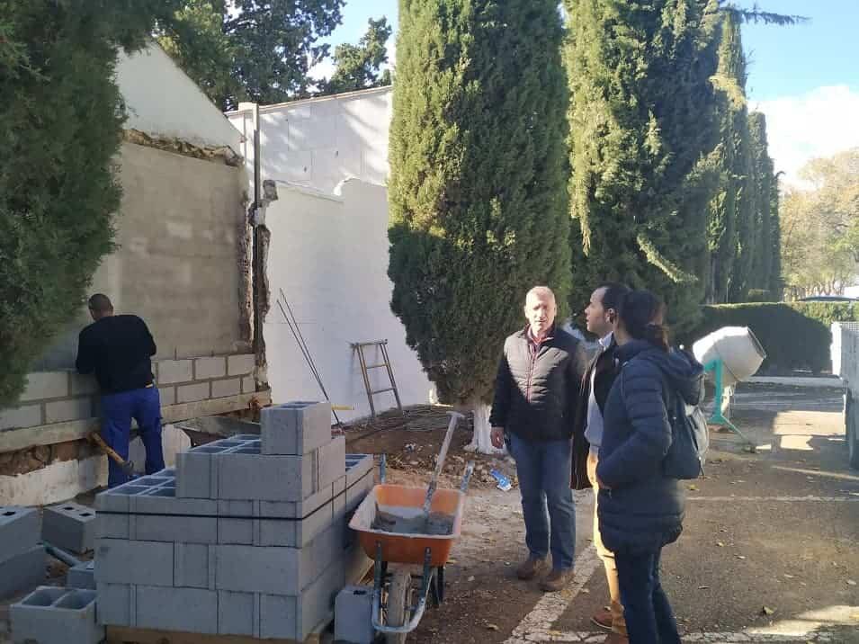 Mejoras pasillos cementerio herencia 3 - Comienza la primera fase de obras de mejora en el Cementerio Municipal