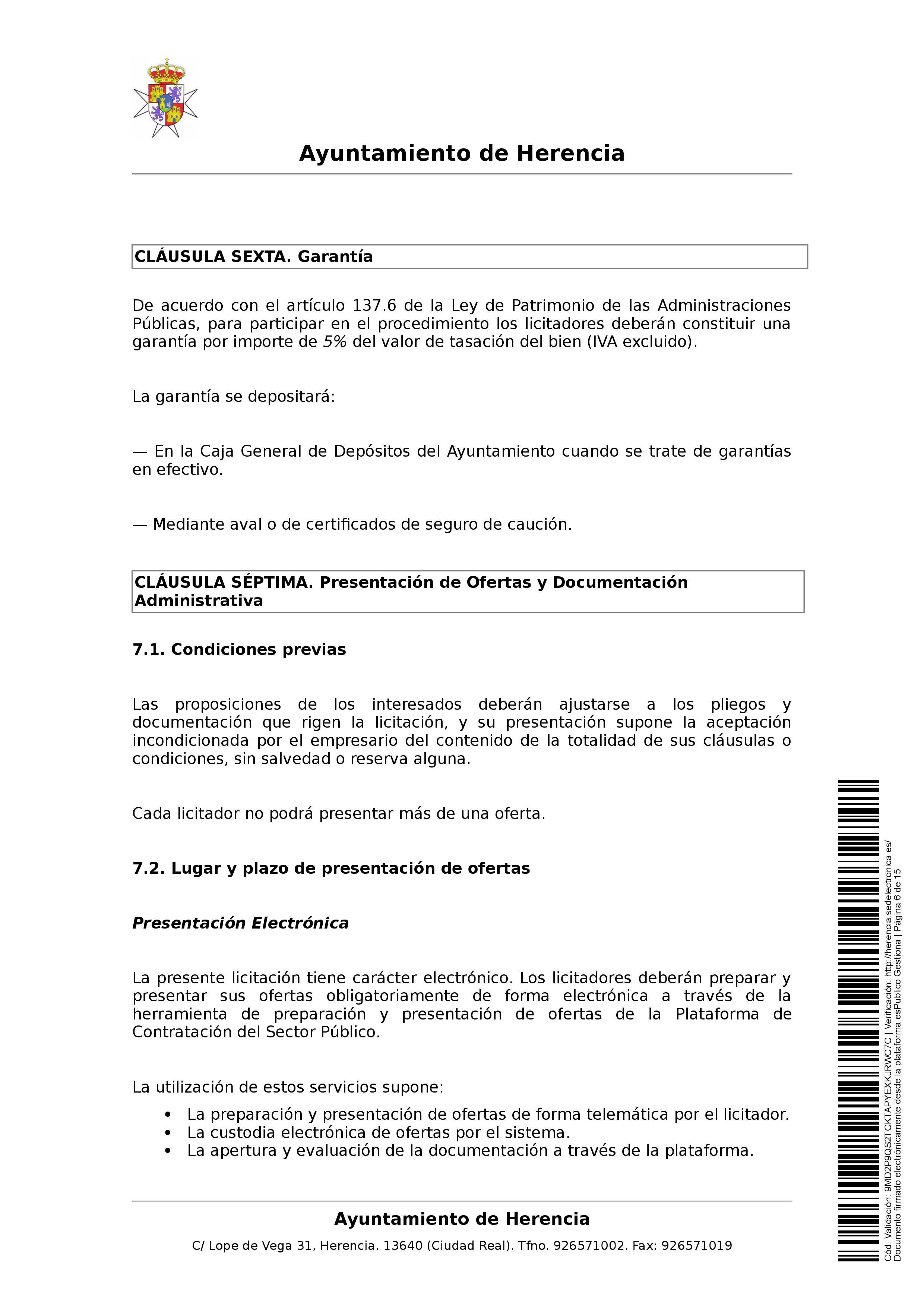 clausulas administrativa subasta parcelas 0006 - Herencia pone 8 parcelas residenciales a subasta para obtener más ingresos