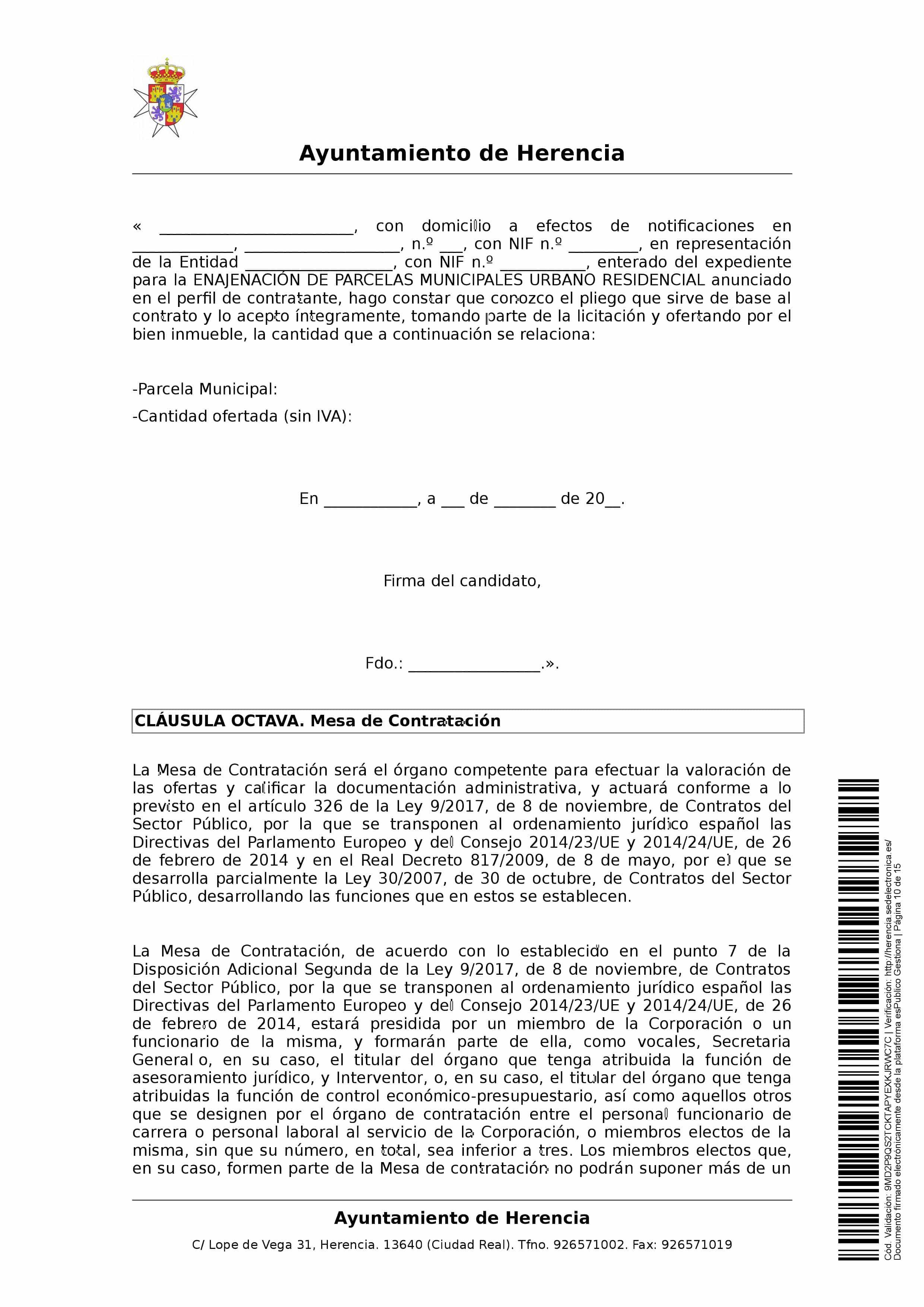 clausulas administrativa subasta parcelas 0010 - Herencia pone 8 parcelas residenciales a subasta para obtener más ingresos