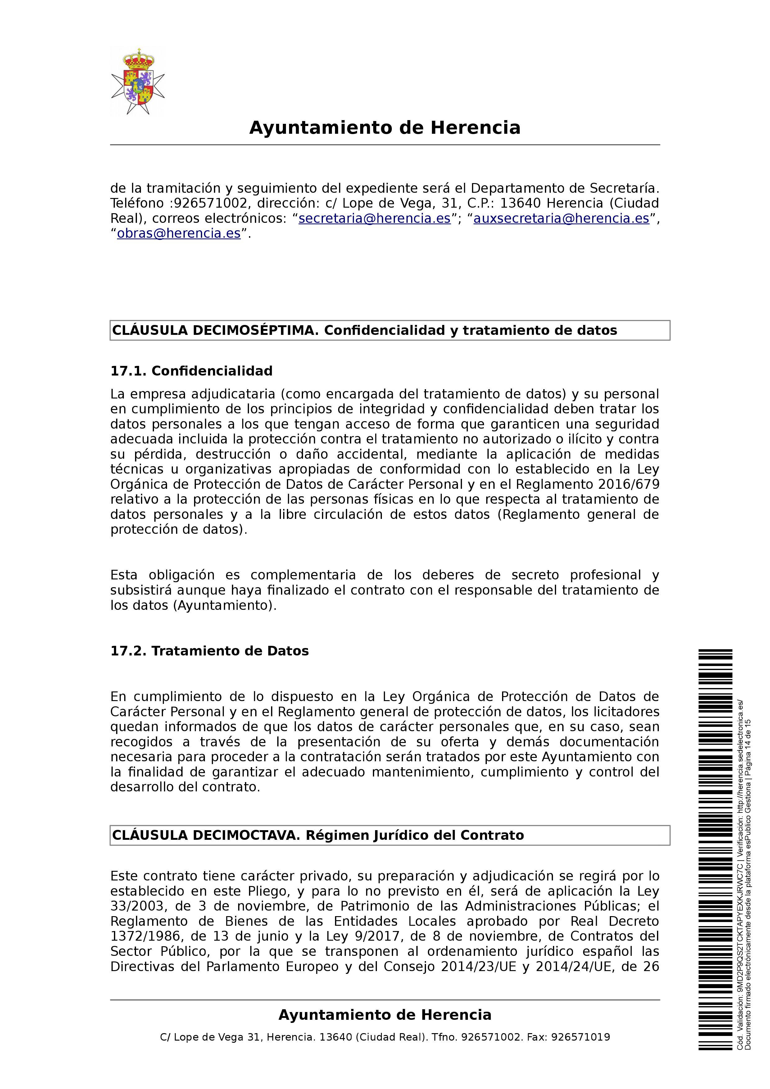 clausulas administrativa subasta parcelas 0014 - Herencia pone 8 parcelas residenciales a subasta para obtener más ingresos