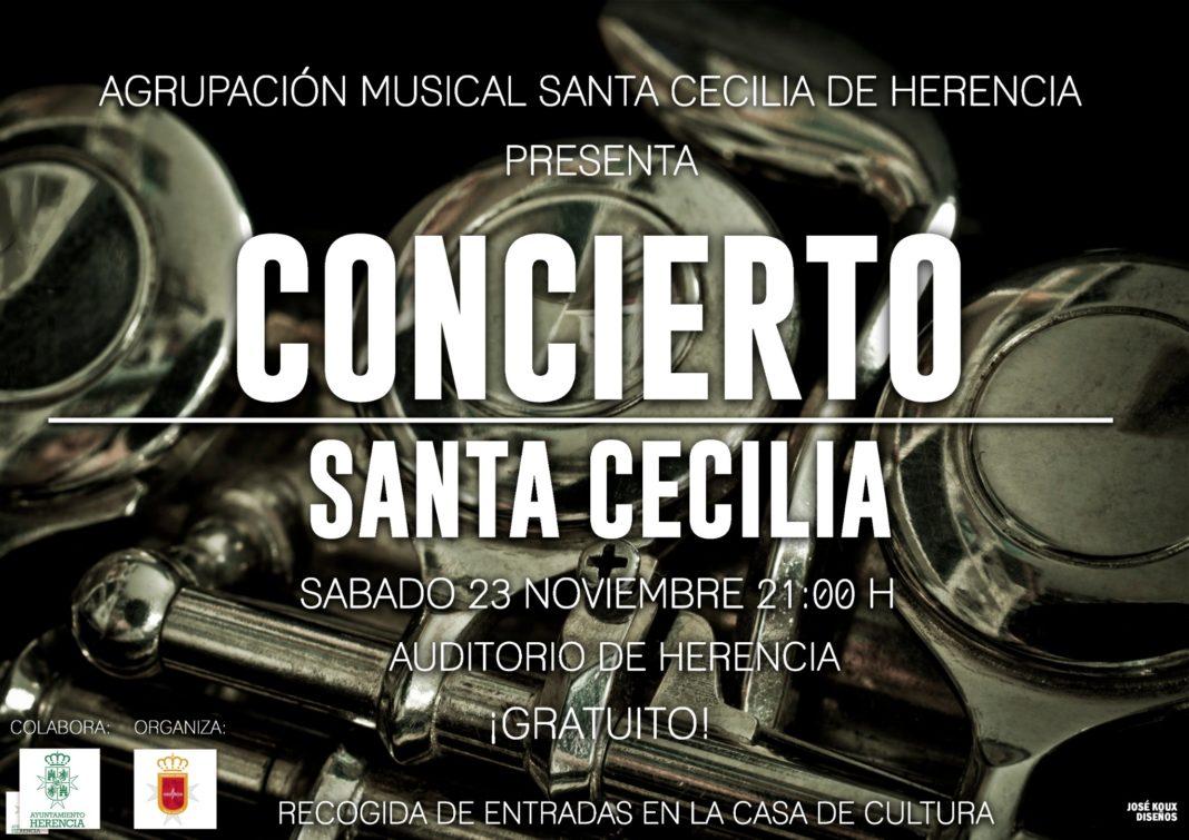 concierto de santa Cecilia 2019 1068x755 - Concierto y actos de la agrupación musical Santa Cecilia de Herencia