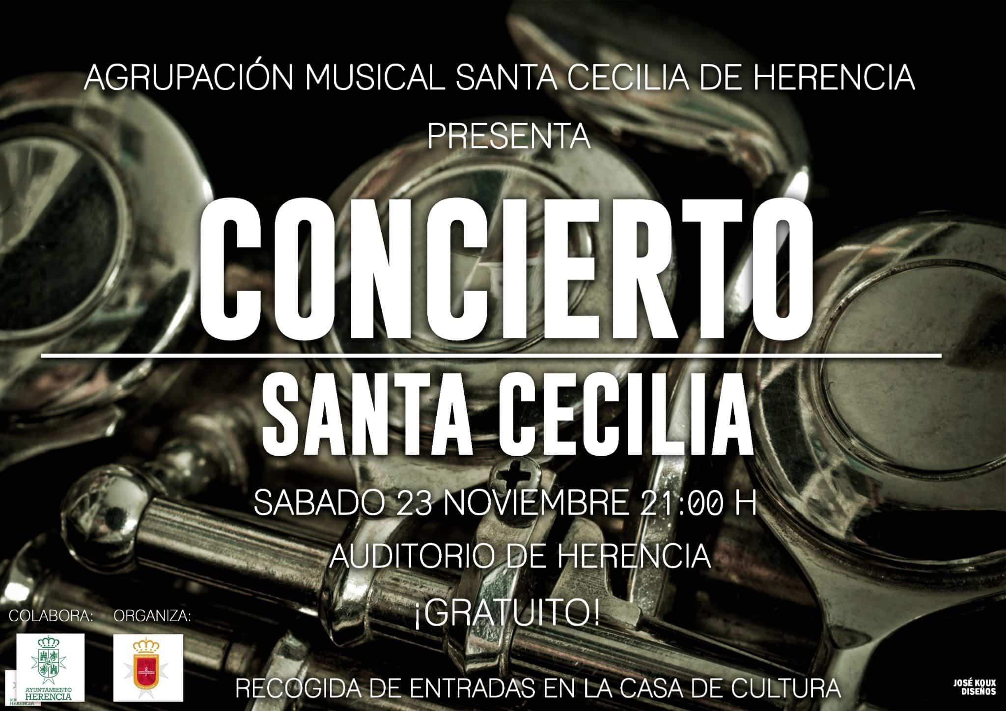 concierto de santa Cecilia 2019 - Concierto y actos de la agrupación musical Santa Cecilia de Herencia