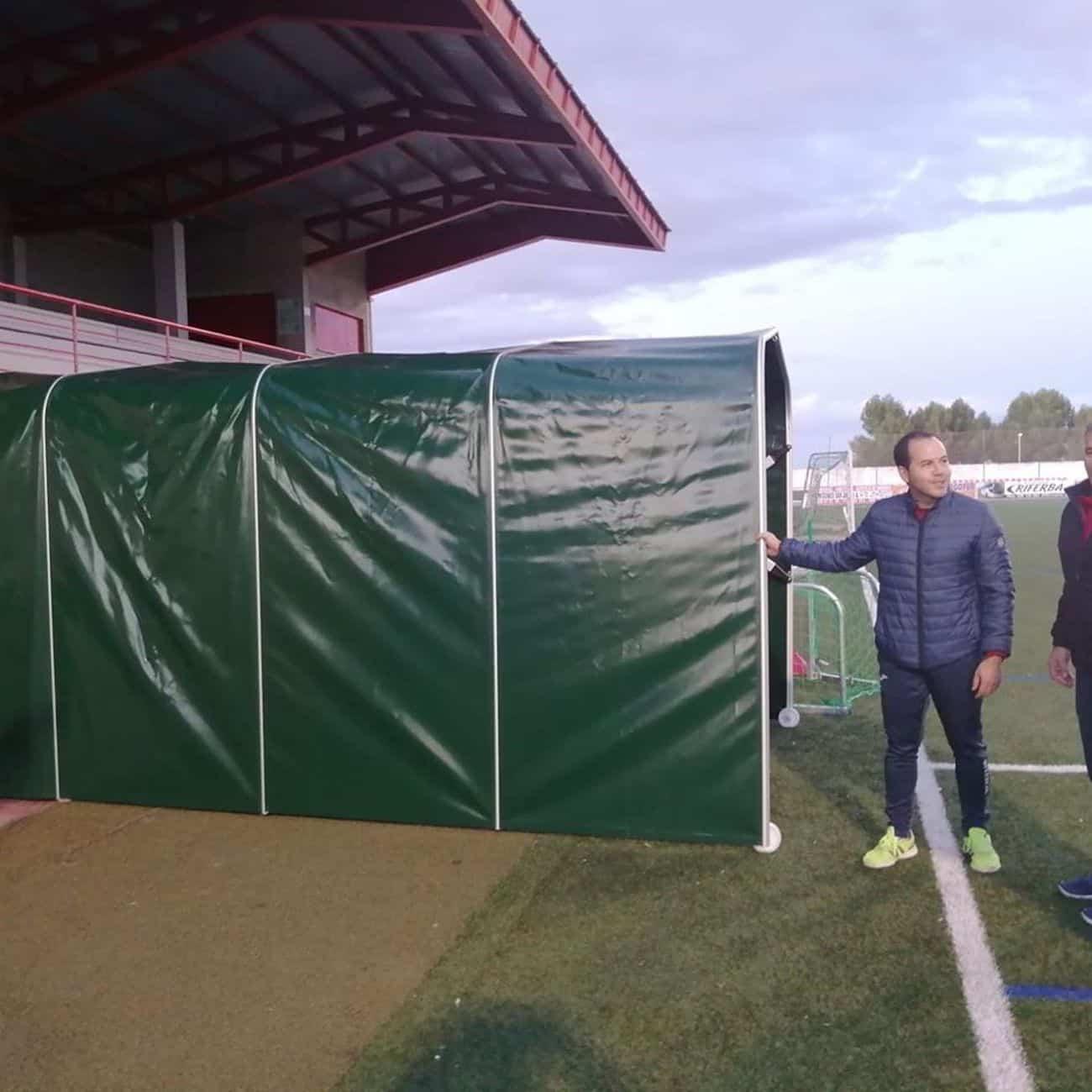 mejoras campo futbol herencia 1 - Mejoras en las instalaciones del campo de fútbol de Herencia