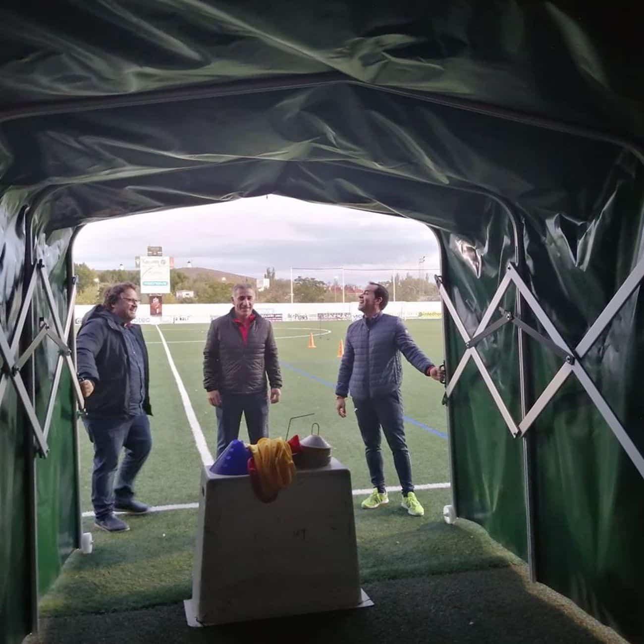 mejoras campo futbol herencia 2 - Mejoras en las instalaciones del campo de fútbol de Herencia