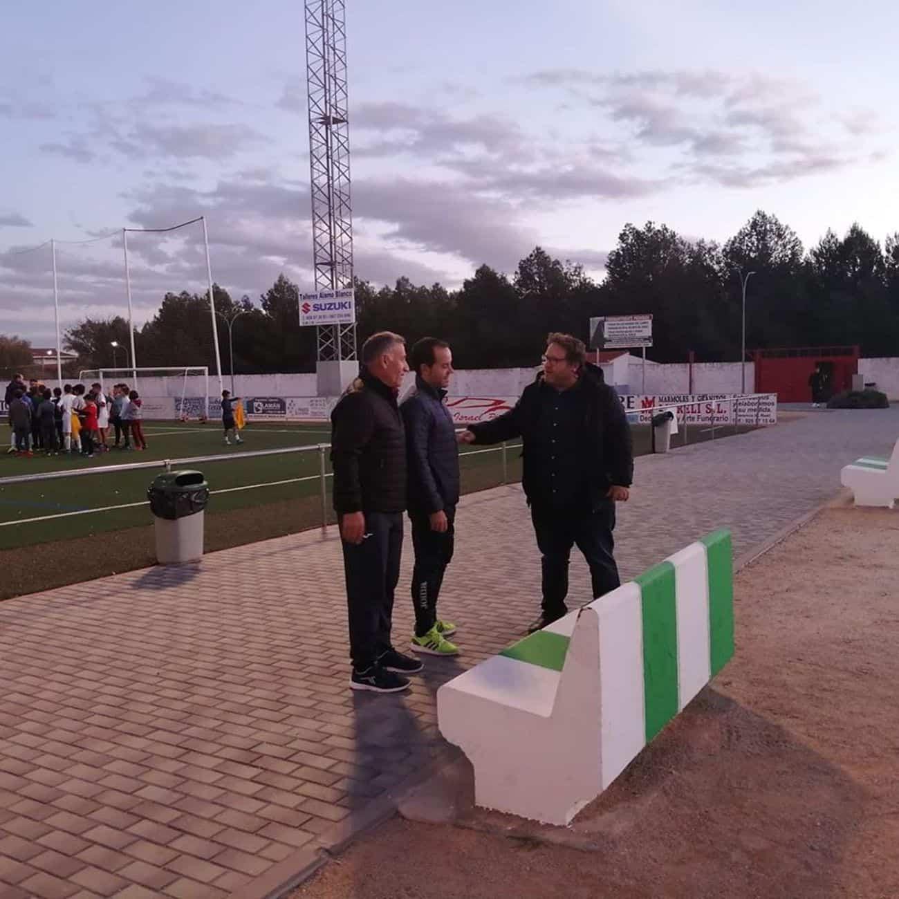 mejoras campo futbol herencia 3 - Mejoras en las instalaciones del campo de fútbol de Herencia