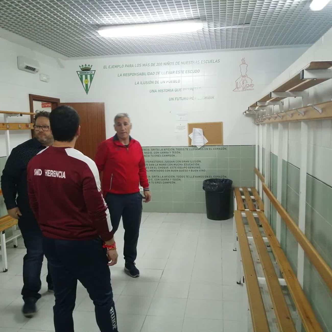 mejoras campo futbol herencia 4 - Mejoras en las instalaciones del campo de fútbol de Herencia