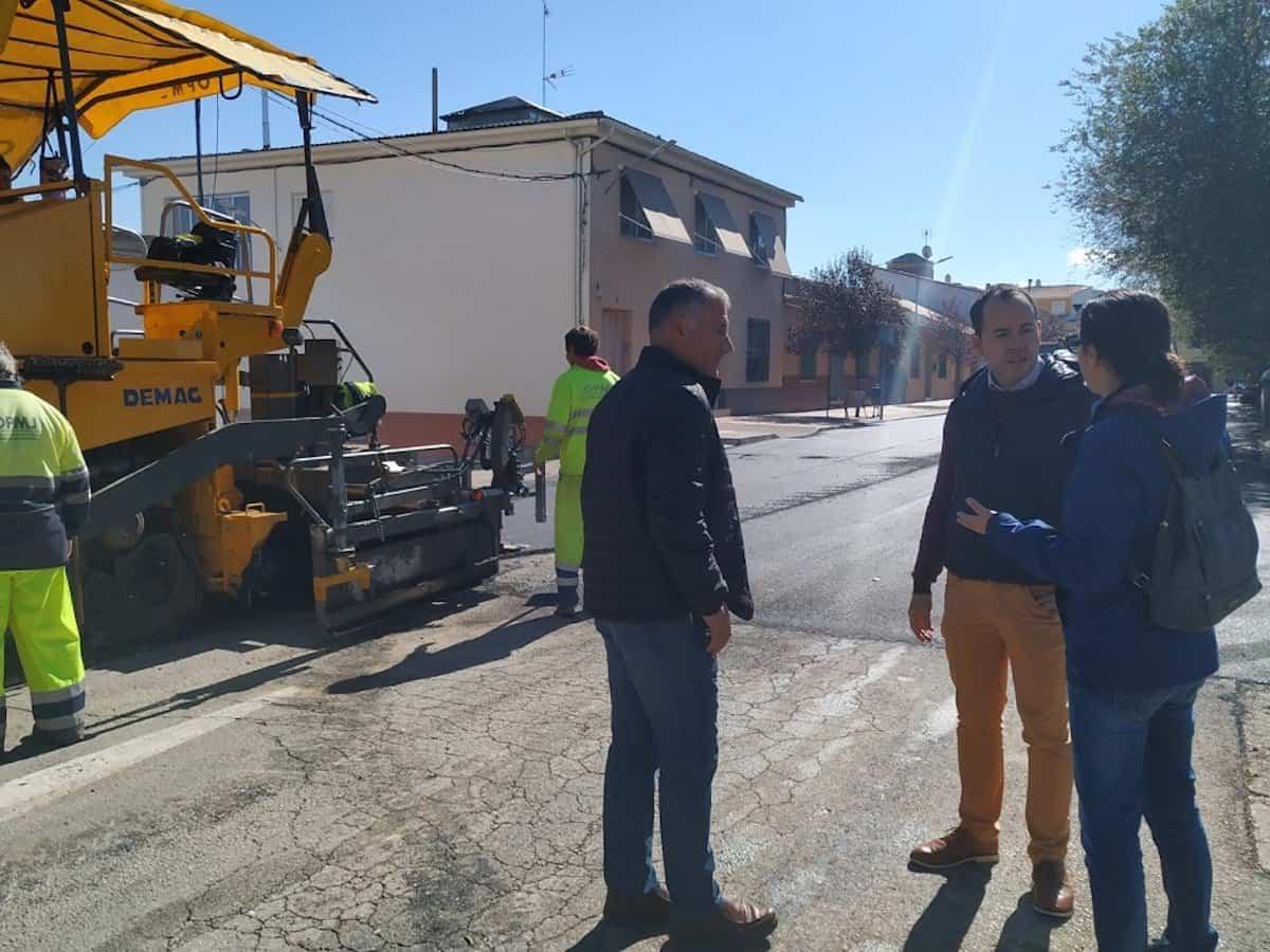 nuevo plan asfaltado 2019 2010 herencia 2 - Arranca el Plan de Asfaltado de esta nueva legislatura en Herencia