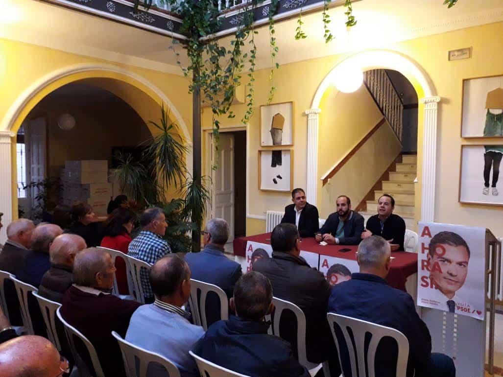 psoe acto sobre las pensiones - El PSOE celebró en Herencia un acto público sobre las pensiones