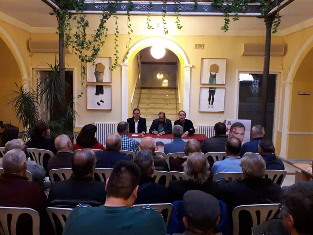 psoe acto sobre las pensiones1 - El PSOE celebró en Herencia un acto público sobre las pensiones