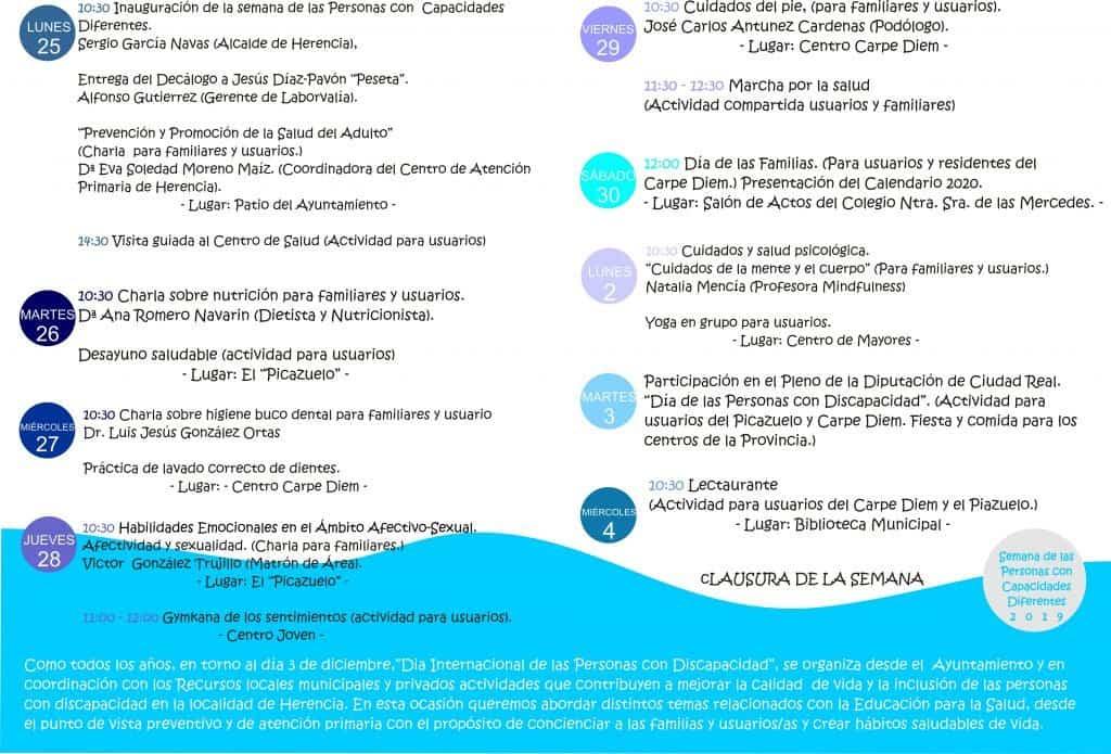 semana de las capacidades diferentes en Herencia - Preparada una nueva semana de las capacidades diferentes en Herencia