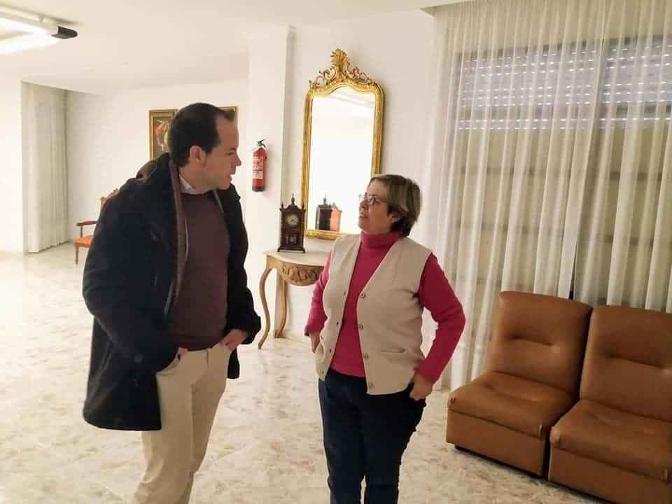"""visita casa de oracion santa maria en herencia 7 - La Casa de Oración """"Santa María"""" en Herencia recibe a las autoridades"""