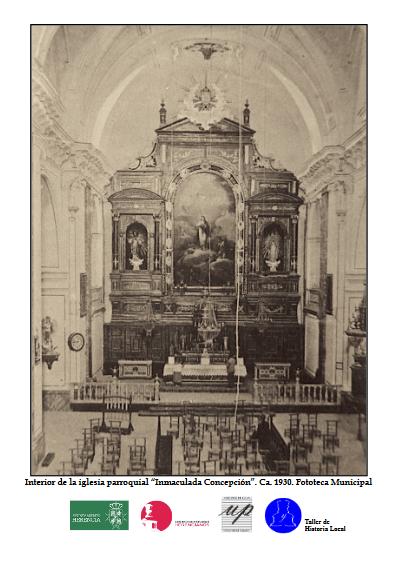 10 Foto del mes diciembre 2019 con logos - Una fotografía del interior de la iglesia parroquial hacia 1930 protagonista del mes en Fototeca Abierta