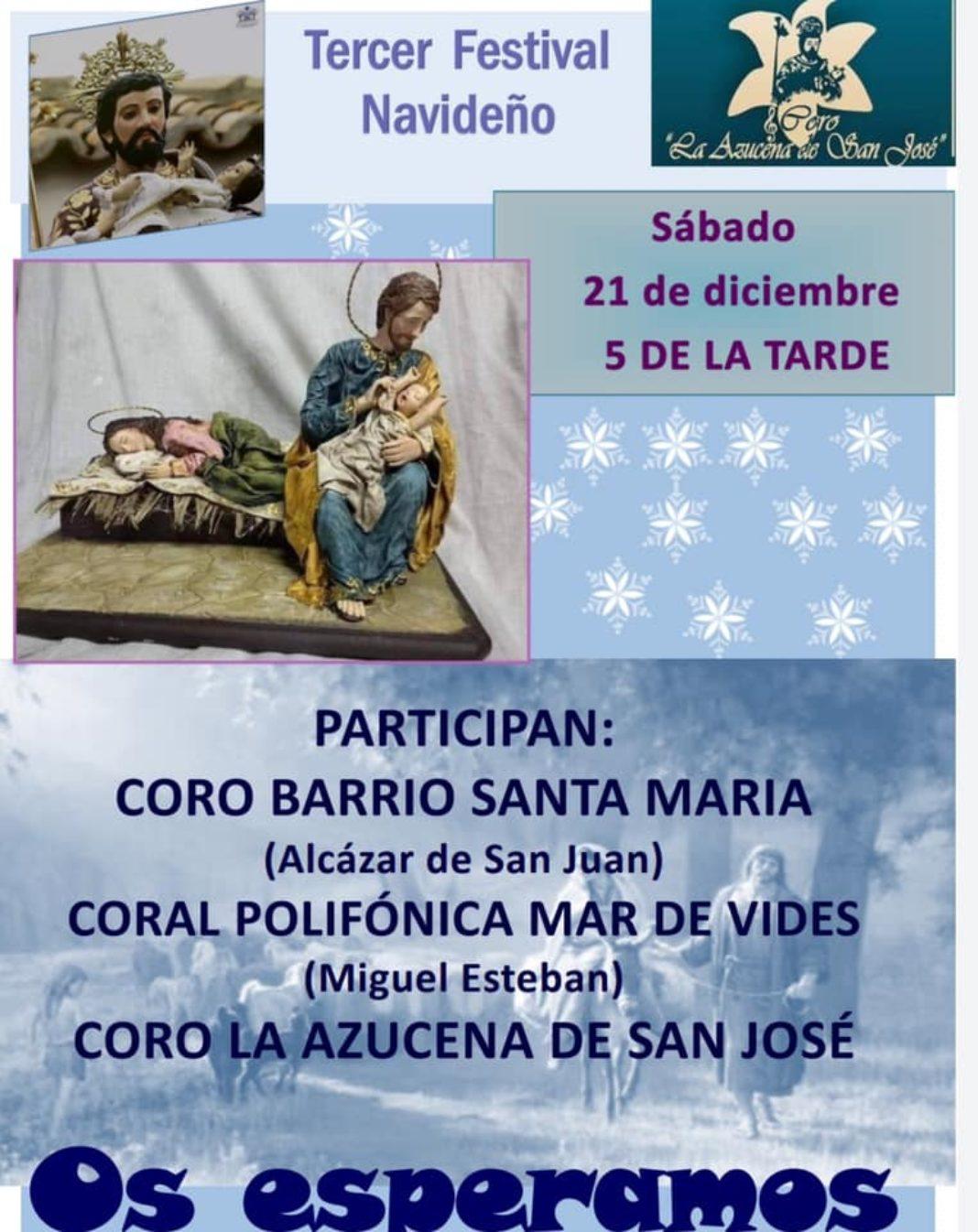 "Festival navideño de corales 1068x1346 - Tercer festival navideño del coro ""La Azucena de San José"""