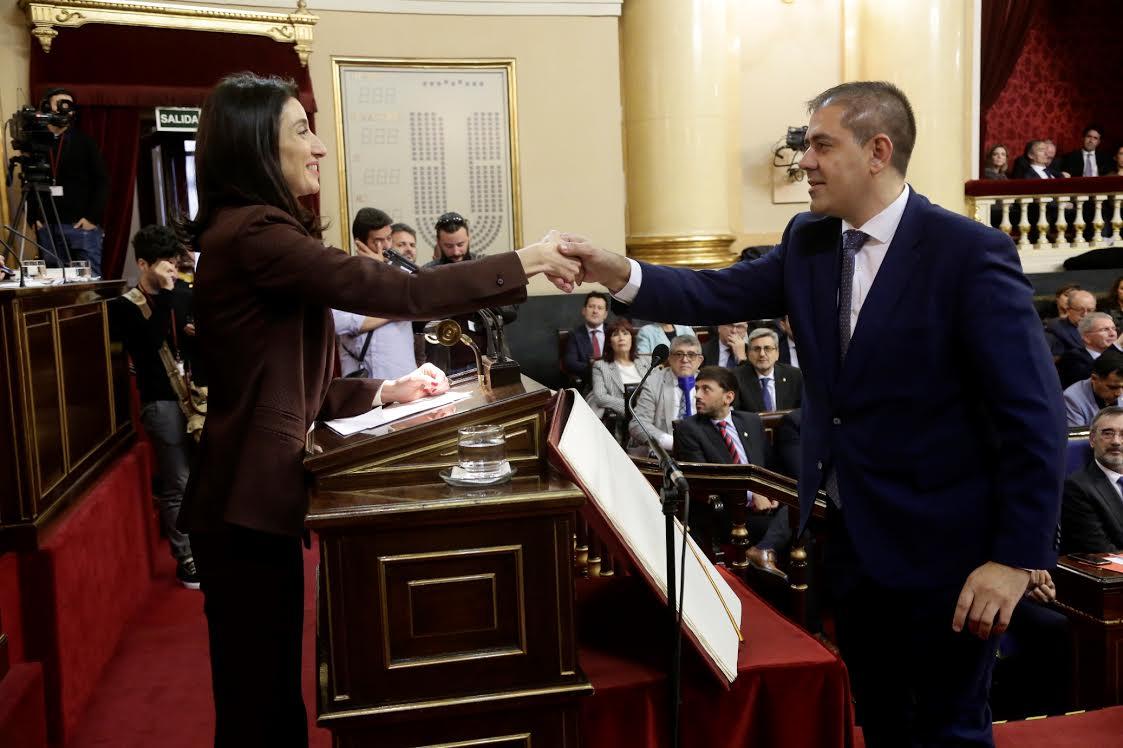 Jose Manuel Bola%C3%B1os en el Senado - José Manuel Bolaños adquiere su condición plena como senador nacional