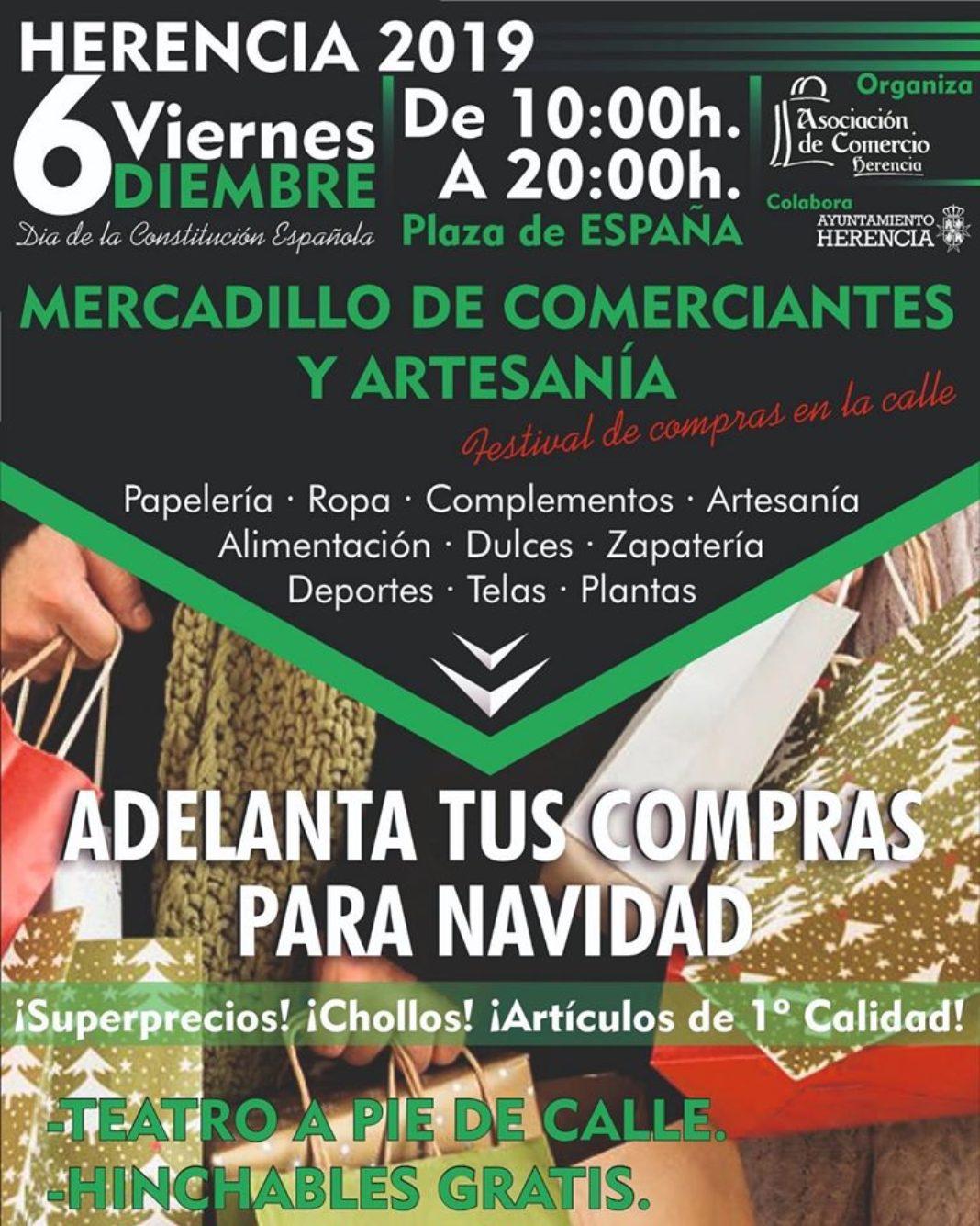 Mercadillo de comerciantes y artesania de Herencia 1068x1335 - Nuevo mercadillo de comerciantes al aire libre el 6 de diciembre