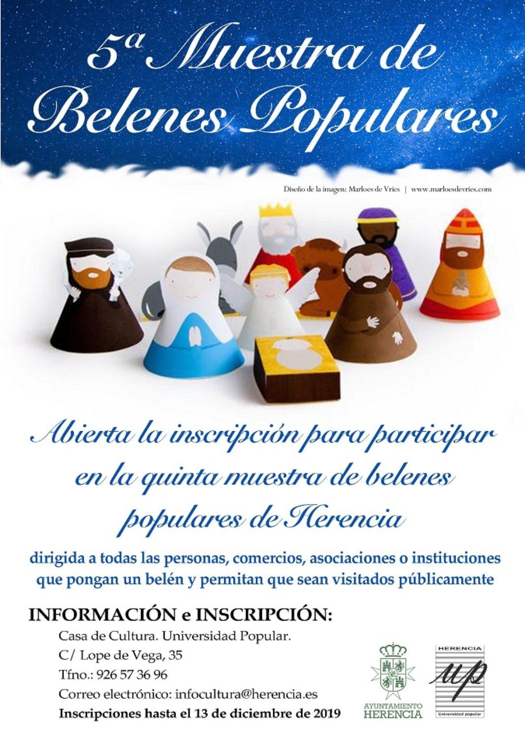 V Muestra de belenes de Herencia 1068x1511 - Abierto el plazo de inscripción para participar en la quinta Muestra de Belenes