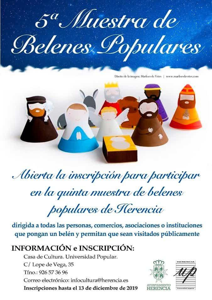 V Muestra de belenes de Herencia - Abierto el plazo de inscripción para participar en la quinta Muestra de Belenes