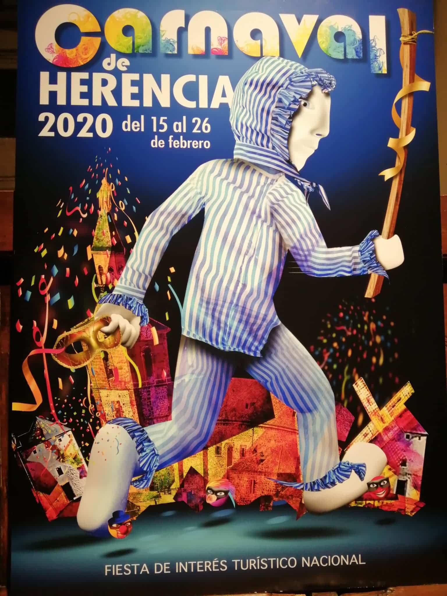 cartel ganador carnaval de herencia 2020 - El Carnaval de Herencia 2020 ya tiene imagen
