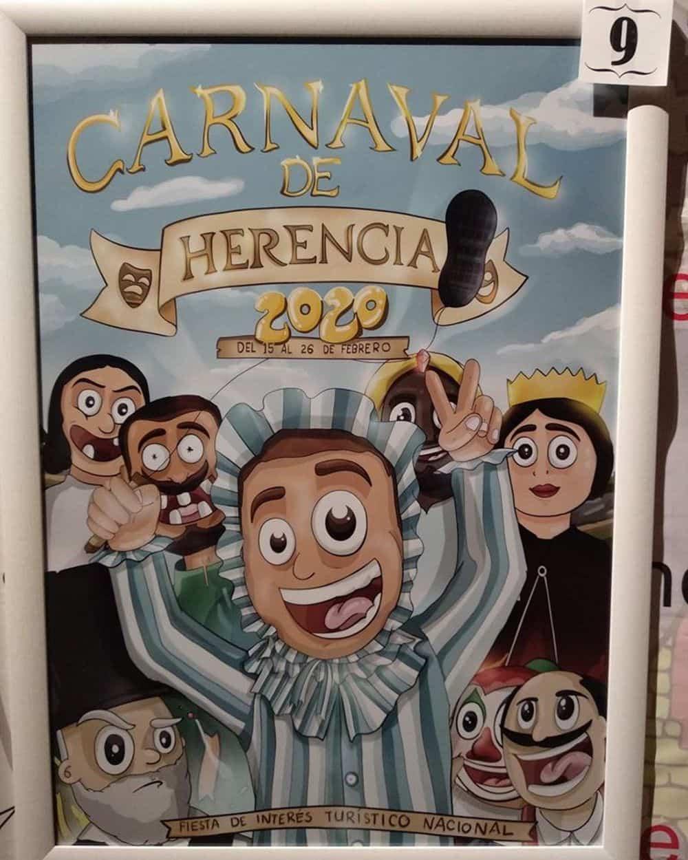 carteles carnaval 2020 herencia 1 - Conoce los carteles de Carnaval de Herencia 2020, ¿cuál te gusta más?