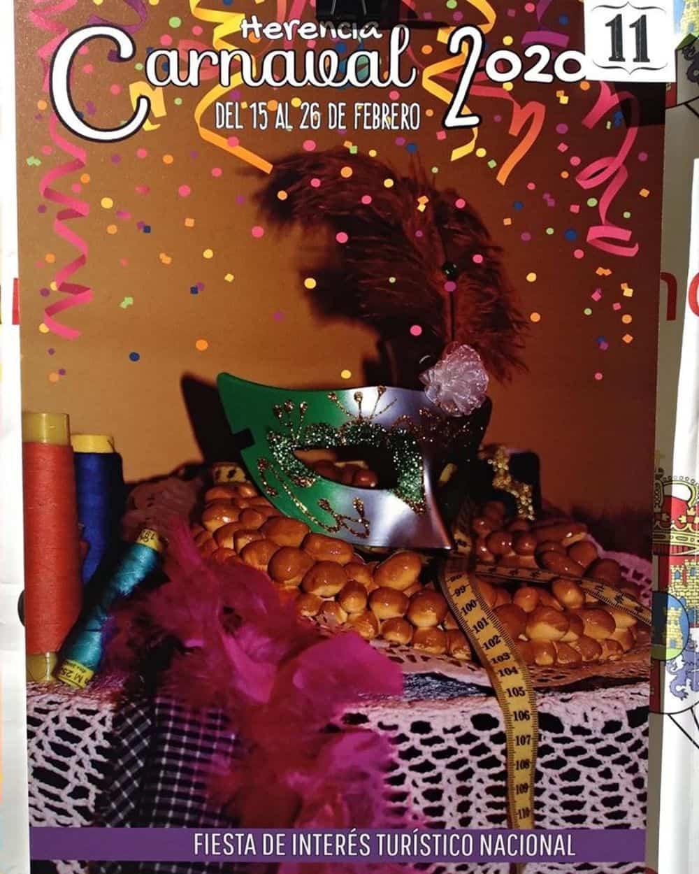 carteles carnaval 2020 herencia 2 - Conoce los carteles de Carnaval de Herencia 2020, ¿cuál te gusta más?