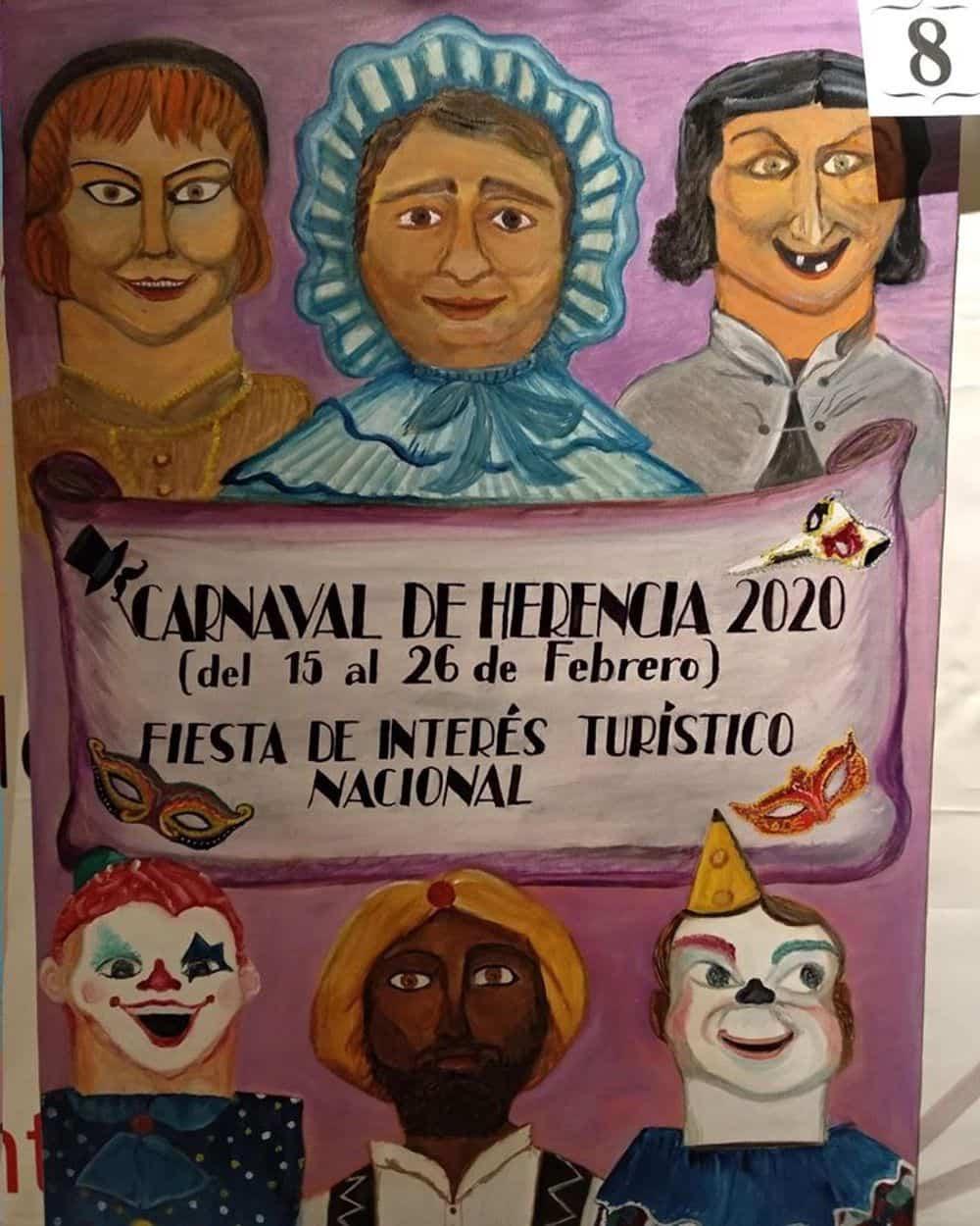 carteles carnaval 2020 herencia 3 - Conoce los carteles de Carnaval de Herencia 2020, ¿cuál te gusta más?