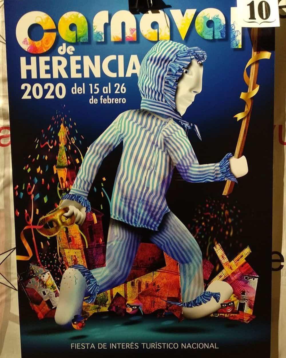 carteles carnaval 2020 herencia 4 - Conoce los carteles de Carnaval de Herencia 2020, ¿cuál te gusta más?