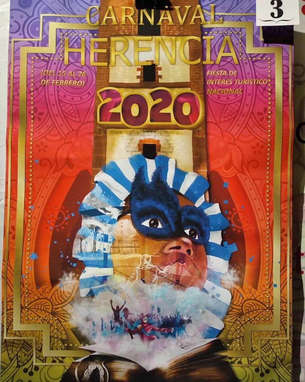 carteles carnaval 2020 herencia 8 - Conoce los carteles de Carnaval de Herencia 2020, ¿cuál te gusta más?