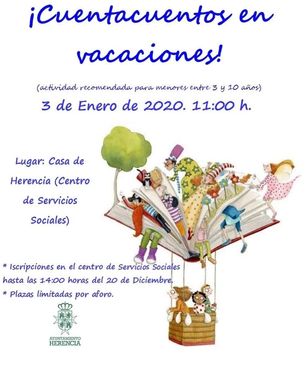 cuentacuentos vacaciones 2019 - Cuentacuentos en vacaciones de navidad en Herencia