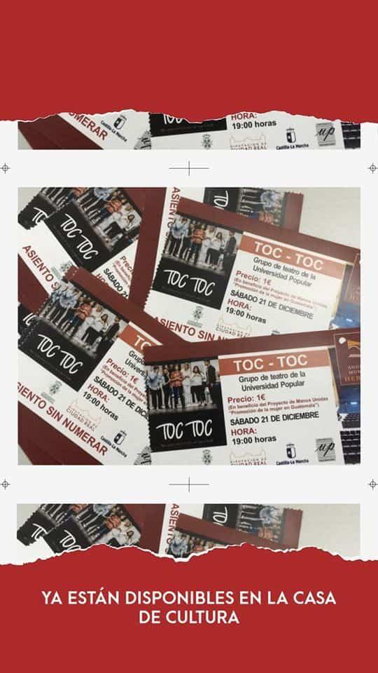 entradas Toc toc - El grupo de teatro de la Universidad Popular vuelve a subirse al escenario esta Navidad